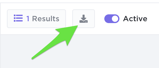 Download Form Results button